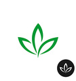 Three green leaf logo Natural plant symbol vector image vector image