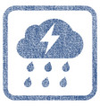 thunderstorm fabric textured icon vector image