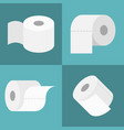 tissue roll icons set vector image vector image