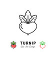 turnip icon vegetables logo thin line art design vector image vector image
