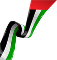 united arab emirates ribbon flag on white vector image