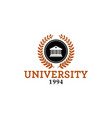 university emblem logo vector image