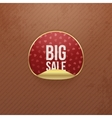 Valentines Day big Sale red round Sticker vector image
