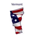vermont full american flag vector image vector image