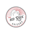 vintage retro stamp red rock arizona for bar pub vector image