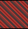 with red black and white diagonal parallel stripes vector image vector image
