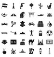 World culture icons set simple style vector image