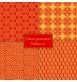 Chinese asian geometrical seamless pattern vector image