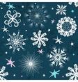 dark blue Christmas seamless pattern vector image
