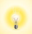 Bright lamp Idea concept vector image