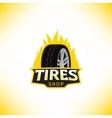template of tires shop logo vector image
