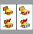 treasure box poster collection vector image