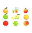 apples and apple juice cool style bright vector image