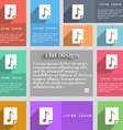 Audio MP3 fileicon sign Set of multicolored vector image vector image