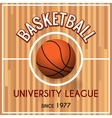 basketball college or university league poster vector image vector image