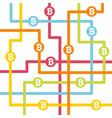 bitcoin money with circles vector image vector image