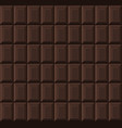 black chocolate bar seamless background pattern vector image vector image