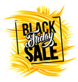 black friday sale advertise design vector image vector image