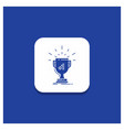 blue round button for award trophy win prize vector image