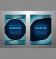business flyer template design vector image