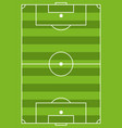 cartoon colorful soccer field icon vector image