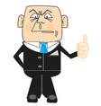 cartoon men in suit vector image vector image