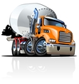 Cartoon Mixer Truck one click repaint option vector image vector image