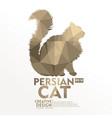 cat geometric paper craft style vector image