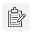 checklist icon black vector image vector image