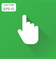 click hand icon business concept cursor finger vector image