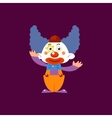 Clown Greeting Simplified Isolated vector image vector image