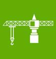 crane icon green vector image vector image