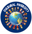 cultural diversity around the world vector image vector image
