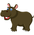 cute hippo cartoon for you design vector image vector image