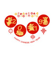 cute pigs happy chinese new year vector image vector image