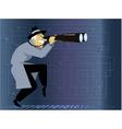 Cyber crime investigator vector image vector image