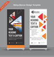dark grey and white geometrical rollup banner vector image vector image