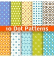Different dot seamless patterns tiling