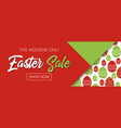 easter sale banner template pattern with eggs vector image vector image