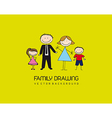 family drawing vector image vector image