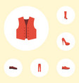 flat icons man footwear pants heeled shoe and vector image vector image