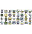 fraud icons set flat vector image vector image