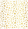 geometric gold foil shapes seamless pattern vector image