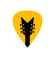 guitar acoustick pick design icon flat logo vector image vector image
