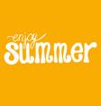 hand written summer lettering vector image vector image