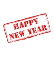 Happy New Year rubber stamp vector image vector image