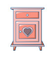 heart bedside table icon cartoon style vector image