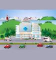 hospital building vector image vector image