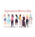 international women day banner template vector image