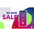 iphone x sale banner vector image vector image